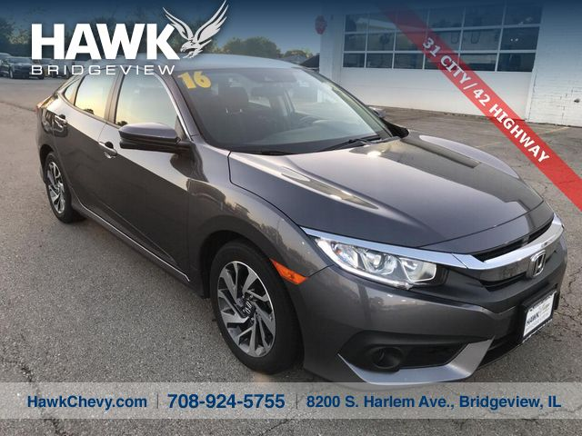 Pre-Owned 2016 Honda Civic EX w/Honda Sensing