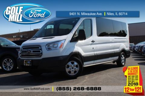 Pre-Owned 2018 Ford Transit-350 T-350 MR 15 Passenger XLT